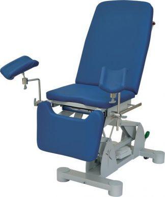 Elektrisk gynækologisk eksamineringsstol med hjul