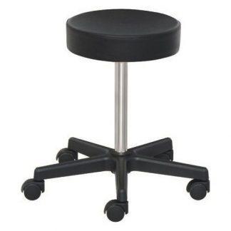 Lav stol med hjul - Højdejustering med skrue - PVC base