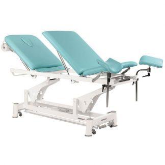 Elektrisk behandlingsbord - 3 sektioner med hjul - Multifunktionel - Tvillinge Søjlelift