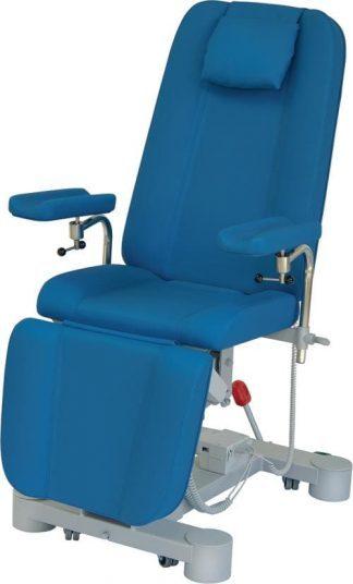 Elektrisk prøveudtagningsstol med hjul og justerbare armlæn