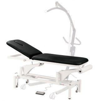 Elektrisk behandlingsbord - 2 sektioner med hjul - Specielt tilpasset til patientlifte