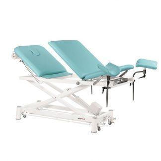 Elektrisk behandlingsbord - 3 sektioner med hjul - Multifunktionel - Sakselift