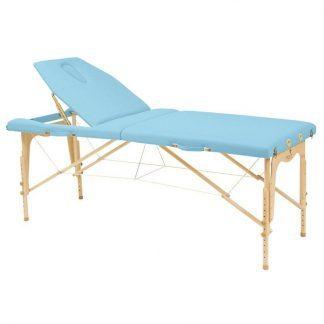Foldbar træmassagebord - 2 sektioner - 182x70 cm - Justerbar - Ryglæn