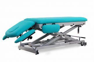 Elektrisk behandlingsbord til osteopati - 2 sektioner med 4 armlæn og hjul