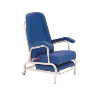 Hvilestol med armlæn og 2 hjul bagtil