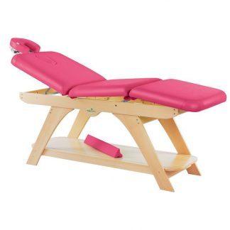 Stationær behandlingsbord - 3 sektioner med træbase - Manuel justering - Ansigtspude
