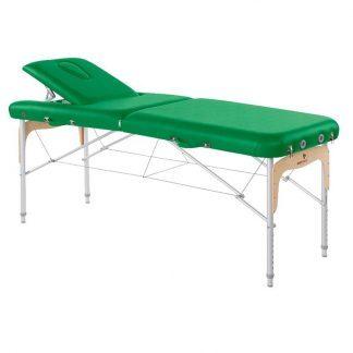Foldbar massagebord - Aluminium - 2 sektioner - 186x70 cm - Ryglæn