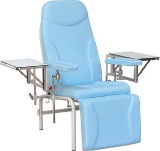 Prøveudtagningsstol med justerbare armlæn - 2 inddragelige sidebord