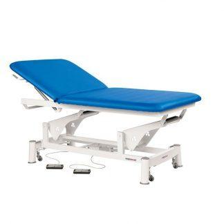 Elektrisk behandlingsbord - Ekstra bred - 2 sektioner med hjul