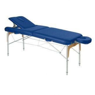 Foldbar massagebord - Aluminium - 2 sektioner - 186x70 cm - Ryglæn/ansigtspude