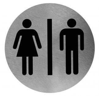 Unisex toiletskilt