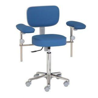 Kirurgisk stol med armlæn - Aluminium base