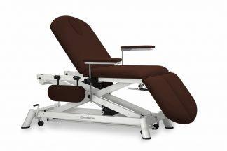 Elektrisk behandlingsbord - 3 sektioner - 4 armlæn - Hjul - Sakselift
