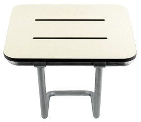 Foldbart sæde til vægmontering med ekstra støtte for stabilitet