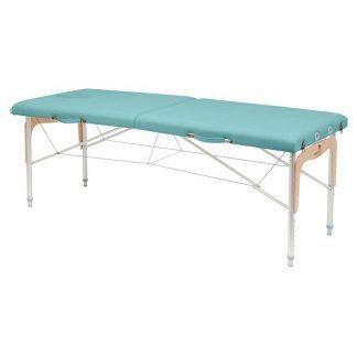 Foldbar massagebord (Alu) - 2 sektioner - 182x70 cm - Justerbar højde