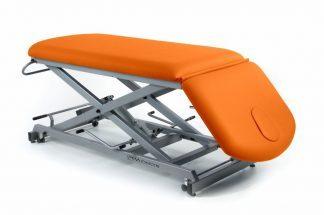 Hydraulisk behandlingsbord - 2 sektioner - Negativ justering af ryglæn - Sakselift - Hjul