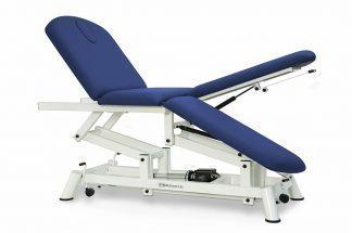 Elektrisk behandlingsbord til osteopati - 3 sektioner med hjul - Individuelle benstøtter - Tvillinge Søjle