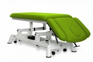 Elektrisk behandlingsbord til osteopati - 2 sektioner med 2 armlæn og hjul