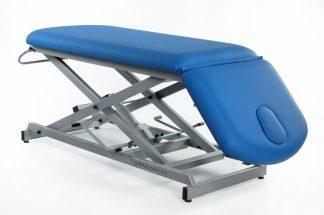 Hydraulisk behandlingsbord - 2 sektioner - Negativ justering af ryglæn - Sakselift