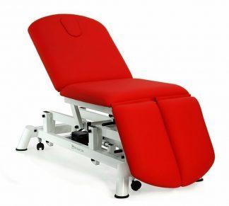 Elektrisk behandlingsbord - 3 sektioner med hjul - Negativ justering af ryglæn