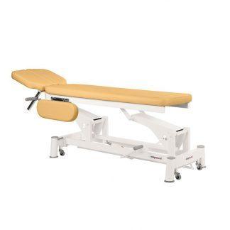 Hydraulisk behandlingsbord - 2 sektioner med armlæn og hju