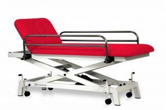 Elektrisk behandlingsbord til pædiatrisk brug - 2 sektioner - Sakselift - Hjul