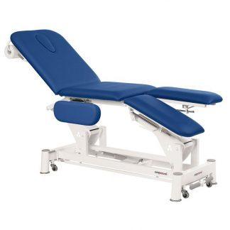 Elektrisk behandslingsbord - 3 sektioner med hjul - Individuelle benstøtter