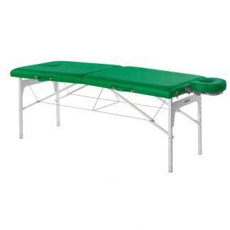 Foldbar massagebord (Alu) - 2 sektioner - 182x70 cm - Justerbar - Ansigtspude