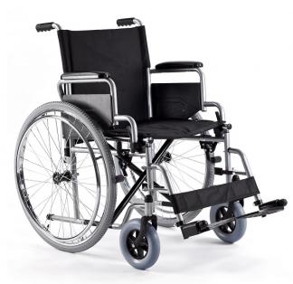 Foldbar kørestol med stålramme - Bælte og let aftagelige hjul