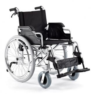Foldbar kørestol lavet af aluminium
