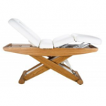 Elektrisk behandlingsbord / massagebord - 2 sektioner med træbase