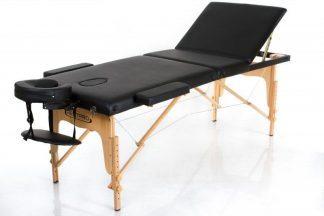 Foldbar massagebord - RESTPRO® Classic 3 - Justerbart ryglæn - Træ